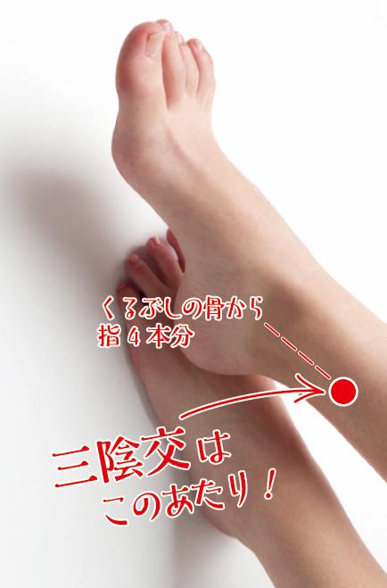 Relaxジョイパーク泉ヶ丘_三陰交ツボ